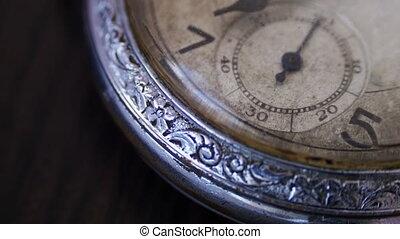Vintage pocket watch - Old vintage clock mechanism watch...