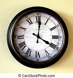 Old Vintage Clock on Wall to Tell Time