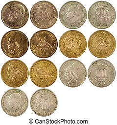 old vintage coins of greece