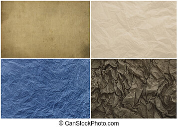 Old vintage crumpled paper texture for background. - Old ...