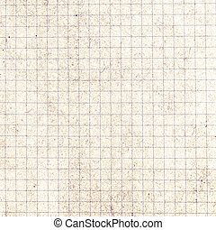 Old vintage discolored dirty graph Recycled paper with ...