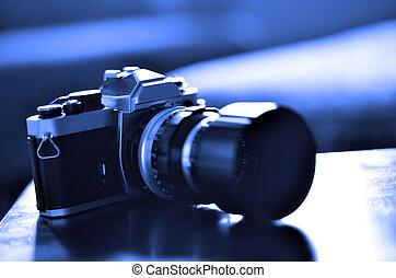 Old Vintage Film Camera with Manual Focus Lens