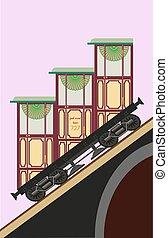 old vintage funicular