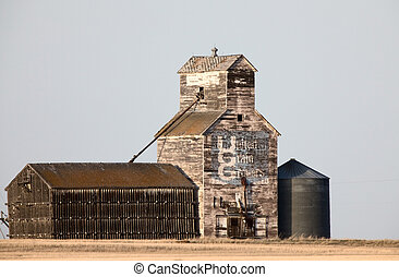 Old Vintage Grain Elevator Saskatchewan Canada