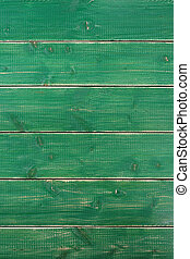 Old vintage green painted wood background texture vertical