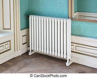 Old vintage heating radiator