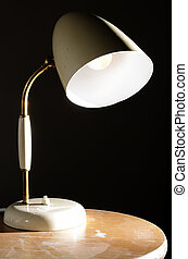 vintage lamp on the coffee table - old vintage lamp on the ...