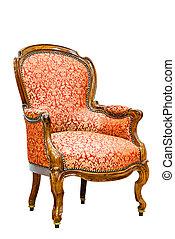 Old vintage luxury armchair.