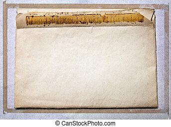 Old vintage mail envelope