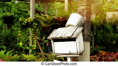 Old vintage mailbox in nature