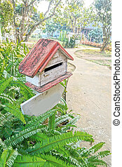 Old Vintage Mailbox in nature.
