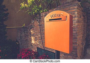 Old vintage mailbox (Vintage filter effect used)