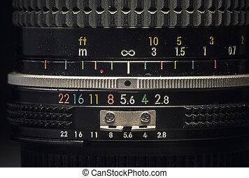 Old Vintage Manual Lens - Details of an old vintage manual ...