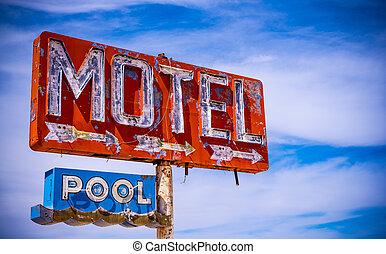 Old Vintage Motel Sign