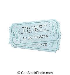 Old vintage paper ticket with number. EPS 8
