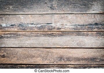 Old vintage planked wood board