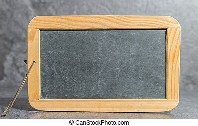 Old vintage plate of slate for writing
