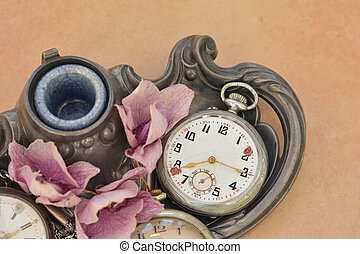 Old vintage pocket antique clock