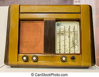 Old Vintage Radio - Stock Image