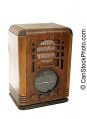 Old Vintage Radio - Very worn, dusty, and well-used vintage ...