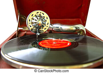 Old vintage record player