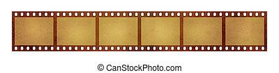 Old vintage retro 35 mm film strip frames