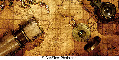 Travel geography navigation concept background. - Old...