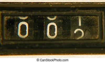 Old vintage retro mechanical reel counter - Old vintage...