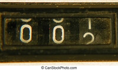 Old vintage retro mechanical reel counter - Old vintage...