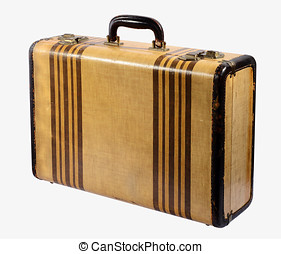 Old vintage rigid frame suitcase - Old vintage classic rigid...