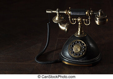 Old vintage rotary phone - Old vintage or antique rotary...