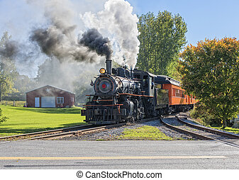 Old Vintage Steam Engine - Old Vintage Steam Engine Arriving...