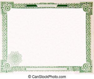 Old Vintage Stock Certificate Empty Border 1914 - Blank U.S....