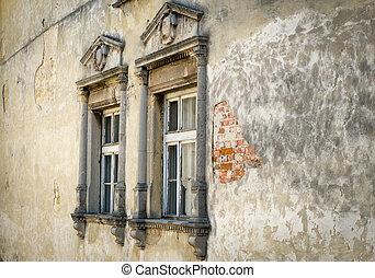 Old vintage stone window