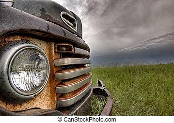 Old Vintage Truck on the Prairie