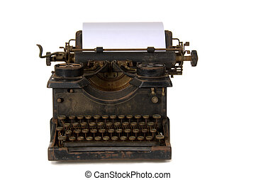 Old vintage typewriter - Old, rusty antique vintage...
