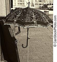 Old Vintage Umbrella on the Street