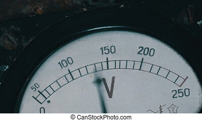 Old vintage voltmeter that shows voltage - Very old vintage...