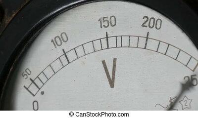 Old vintage voltmeter that shows voltage - Very old vintage...