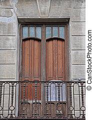 Old Vintage Window Door Balcony
