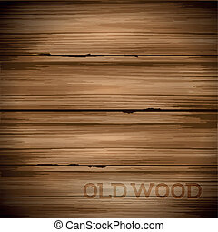 Old Vintage Wood Background - Old hard worn wood vector...