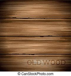 Old Vintage Wood Background - Old hard worn wood vector ...