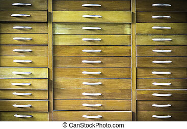 Old vintage wooden chest of drawers
