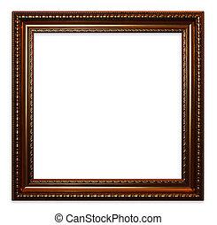 Old vintage wooden frame
