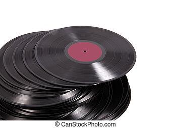 vinyl on white background
