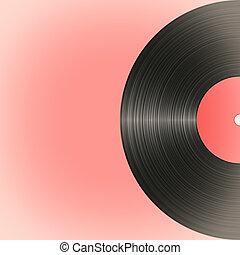 Old vinyl record in retro style