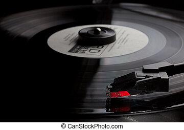 Old Vinyl record player