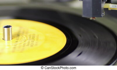 Old Vinyl Record Playing