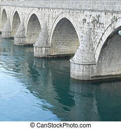 Old Visegrad stone bridge in Eastern Bosnia and Herzegovina