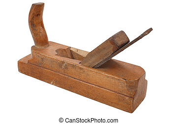 old vitage wooden hand plane